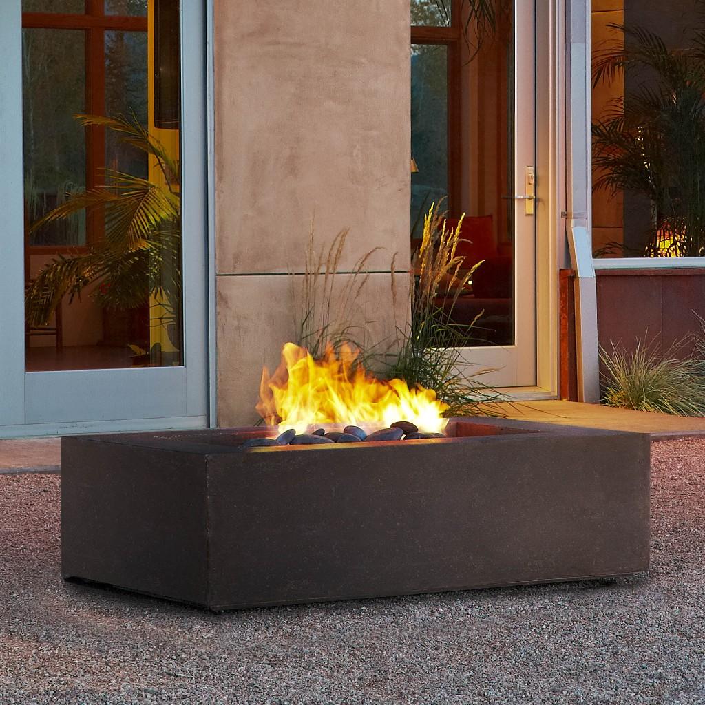Real Flame Baltic Rectangle Propane Fire Table Kodiak Brown