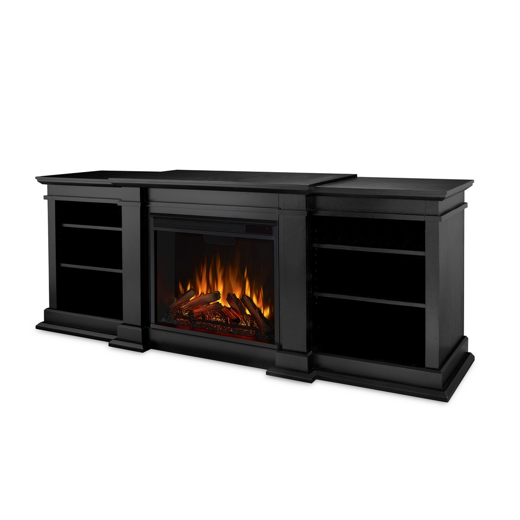Fresno Electric Fireplace in Black - Real Flame G1200E-B