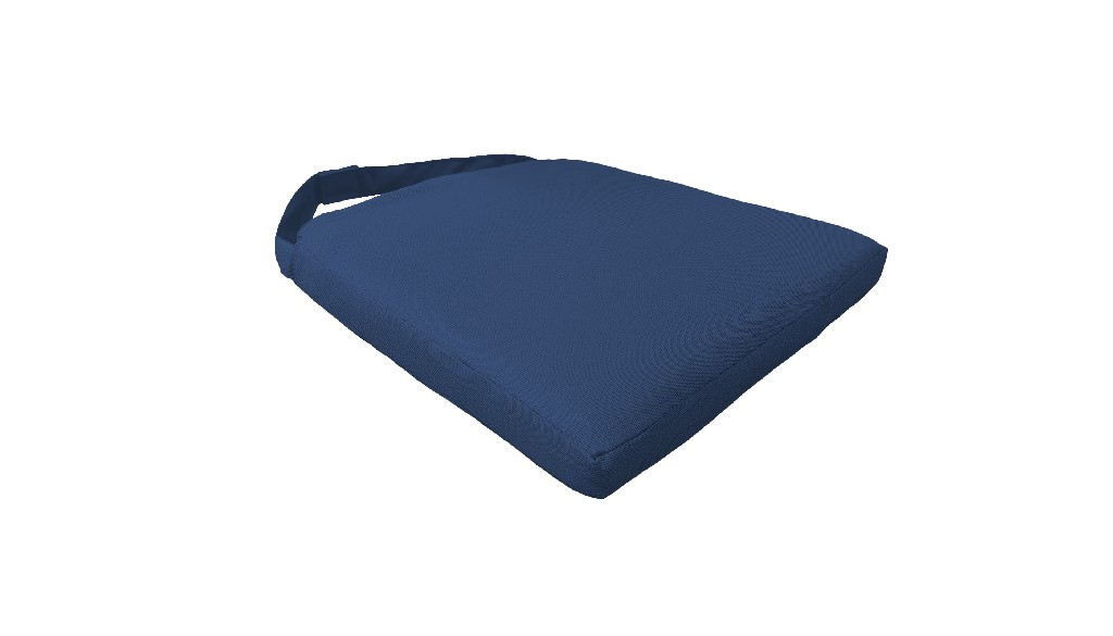 2 Covers for Dining Chair Cushions in Navy - TK Classics 090CK-CHAIR-2PK-NAVY