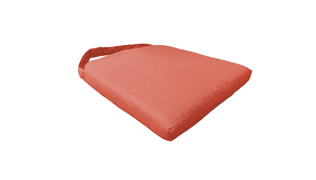 2 Covers for Dining Chair Cushions in Tangerine - TK Classics 090CK-CHAIR-2PK-TANGERINE