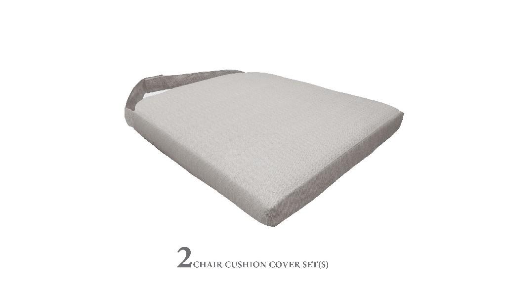 2 Cushions for Dining Chairs in Ash - TK Classics 090CUSHION-CHAIR-2PK-ASH