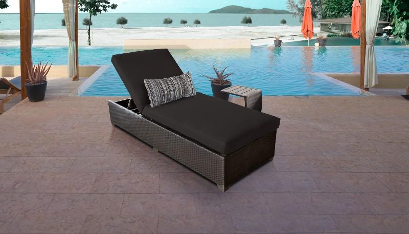 Tk Classics Furniture Chaise Wicker Patio Side Table Photo