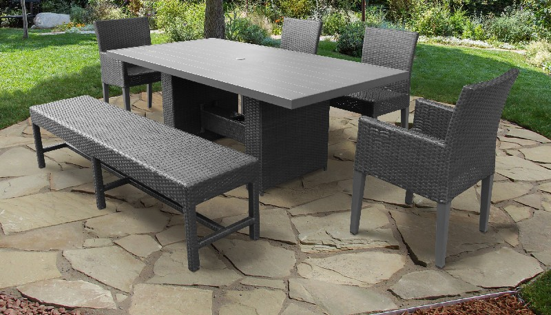 Tk Classics Dining Table Rectangular Patio Armless Chairs Chairs Arms Bench