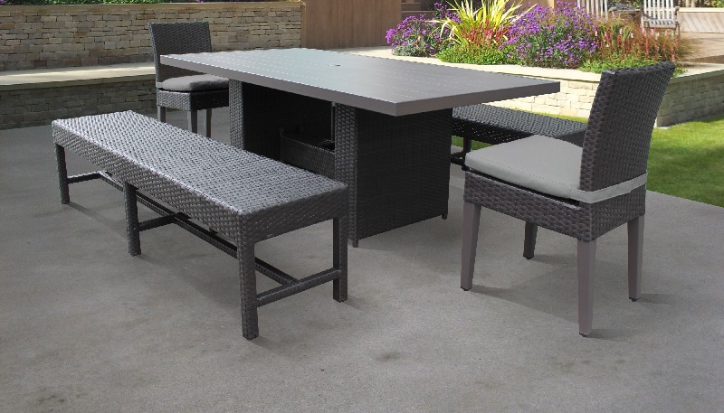 Rectangular | Outdoor | Classic | Patio | Chair | Table | Dine | Grey