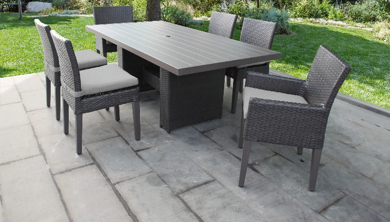 Rectangular Patio Dining Table Chairs Bench Cocoa