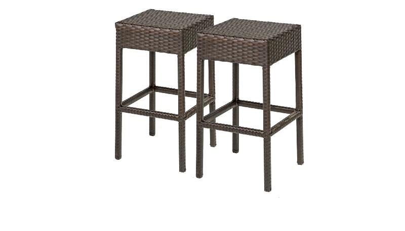 2 Barbados Backless Barstools in Espresso - TK Classics Barbados-Tkc201B-Bs