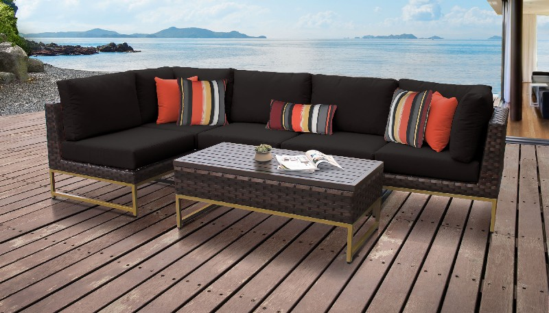 Tk Classics Outdoor Wicker Patio Set Black