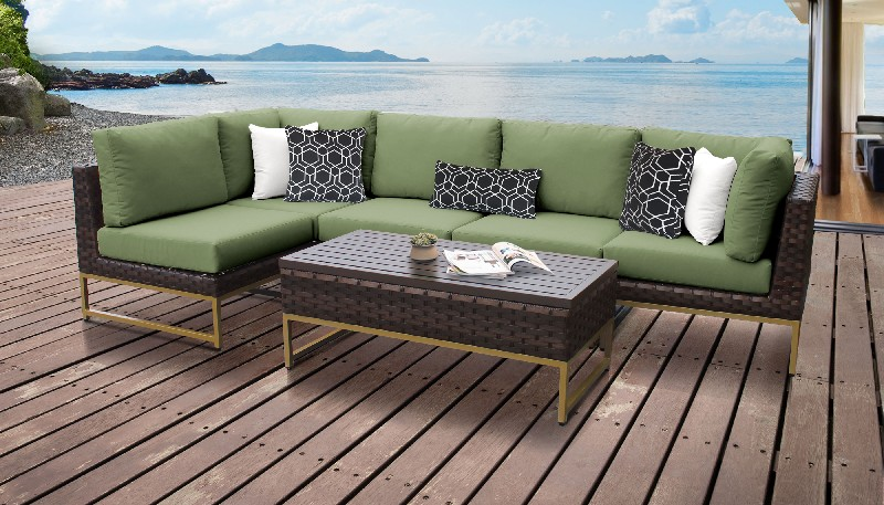 Tk Classics Outdoor Wicker Patio Set Cilantro