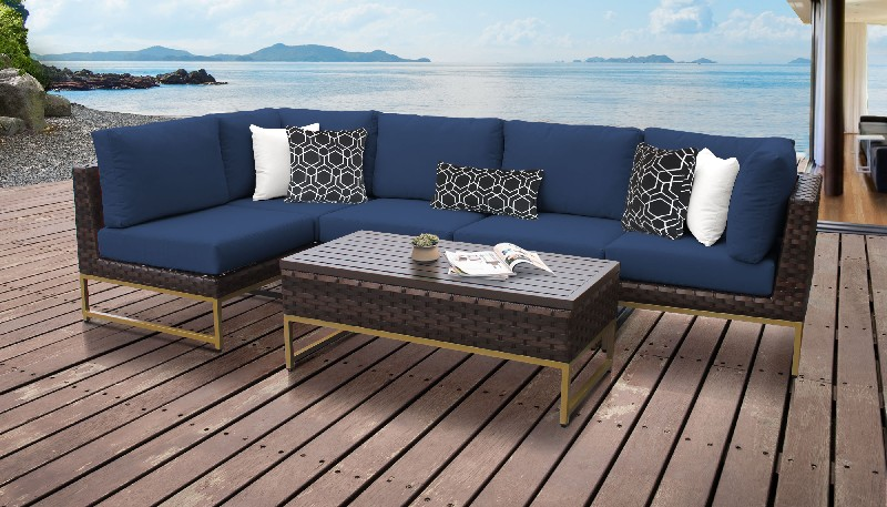 Tk Classics Outdoor Wicker Patio Set Navy