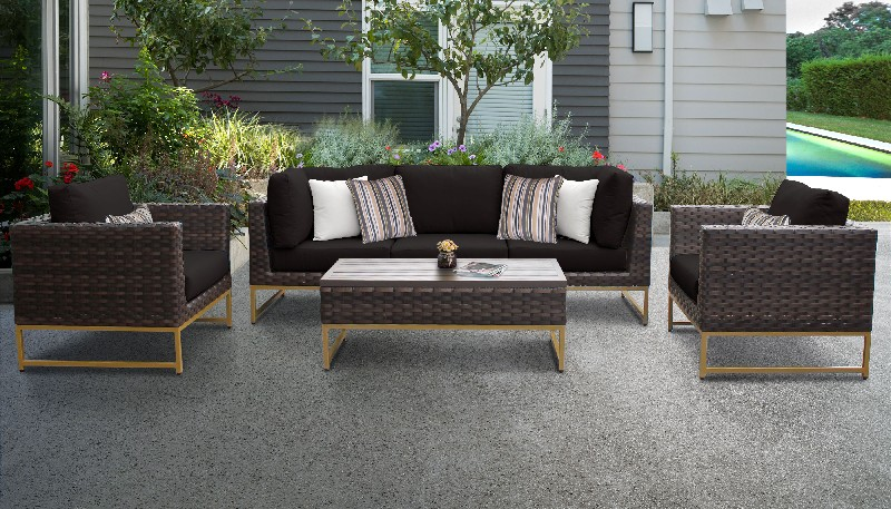 Tk Classics Outdoor Wicker Patio Set R Black