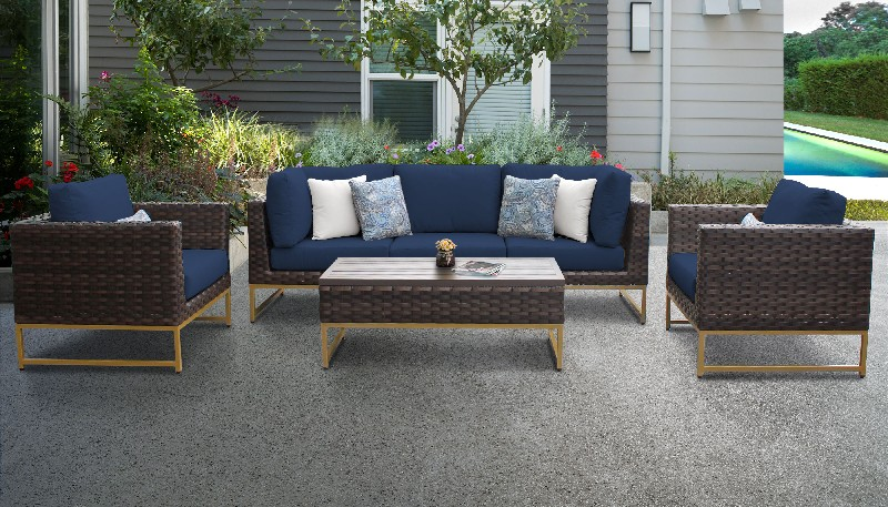 Tk Classics Outdoor Wicker Patio Set R Navy