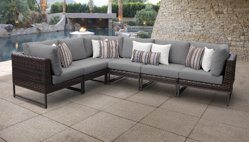Tk Classics Outdoor Wicker Patio Set V Grey