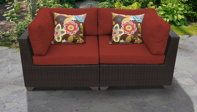 Tk Classics Outdoor Wicker Patio Set Terracotta