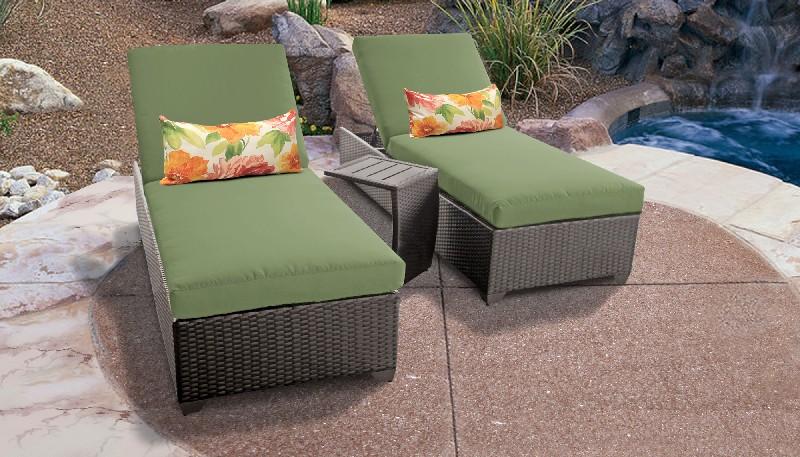 Tk Classics Chaise Outdoor Wicker Patio Side Table Cilantro