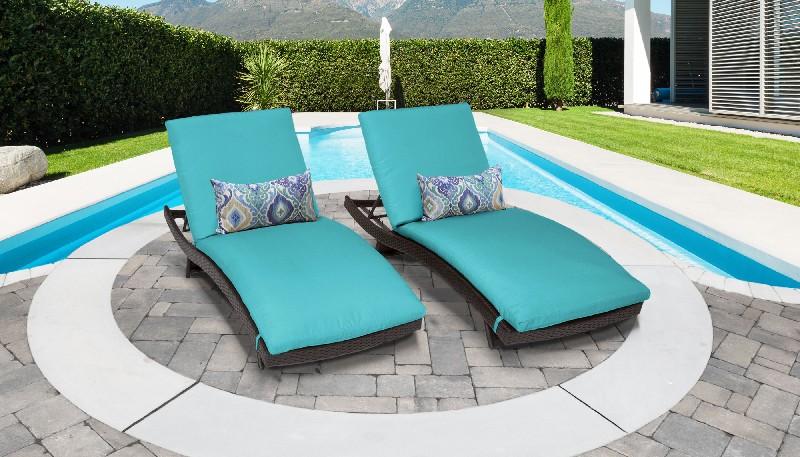 Tk Classics Curved Chaise Outdoor Wicker Patio Aruba