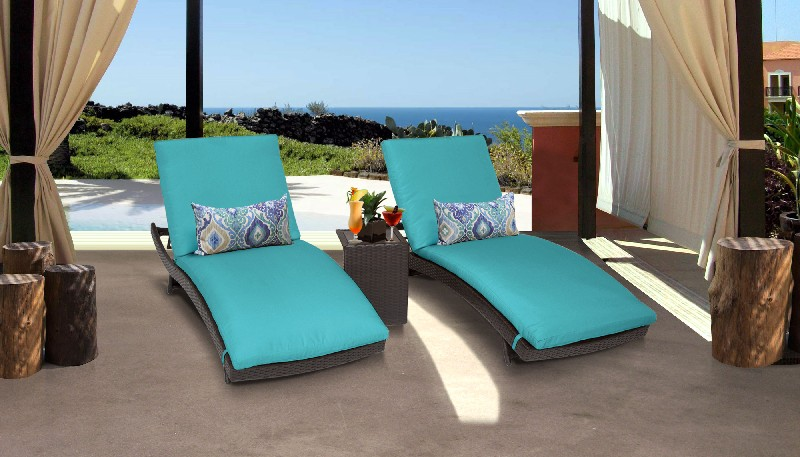 Tk Classics Curved Chaise Outdoor Wicker Patio Side Table Aruba