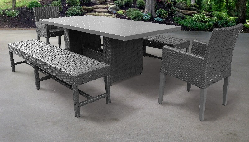 Tk Classics Furniture Dining Table Rectangular Patio Chairs Arms Benches Photo