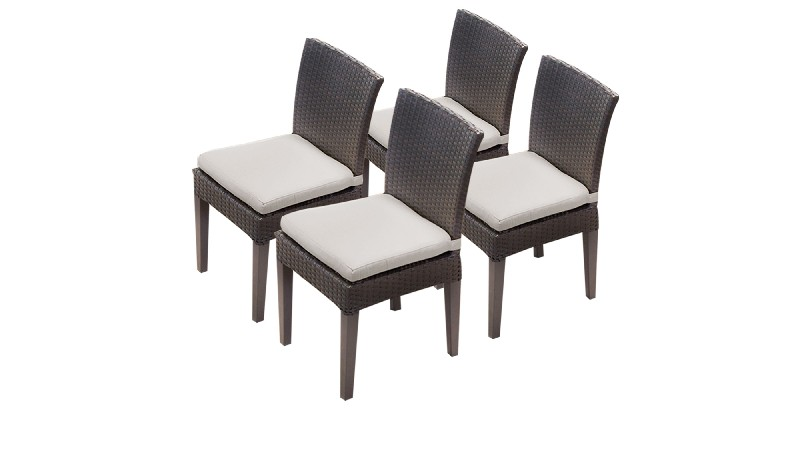 Armless Dining Chairs Beige