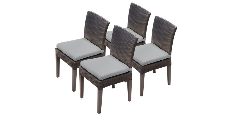 Tk Classics Armless Dining Chairs Grey