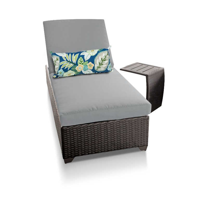 Chaise Outdoor Wicker Patio Side Table Grey
