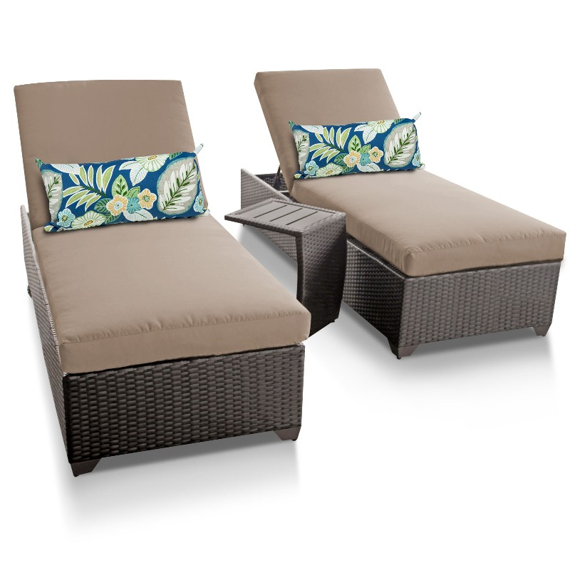 Tk Classics Chaise Wicker Patio Side Table