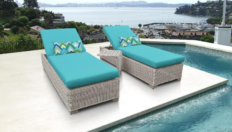 Tk Classics Chaise Outdoor Wicker Patio Side Table Aruba