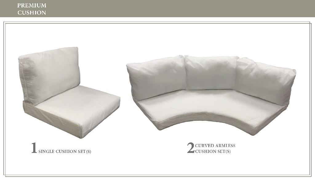 High Back Cushion Set For Barbados-06h - Tk Classics Cushions-barbados-06h