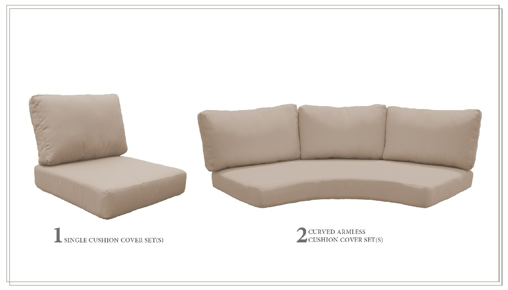 High Back Cushion Set For Barbados-06h In Wheat - Tk Classics Cushions-barbados-06h-wheat