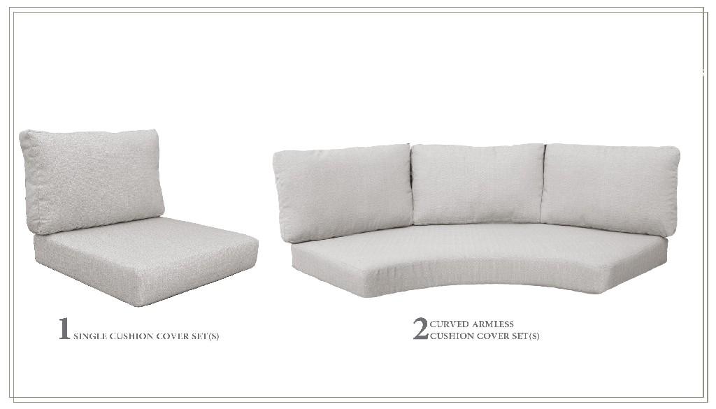 High Back Cushion Set For Barbados-06i In Ash - Tk Classics Cushions-barbados-06i-ash