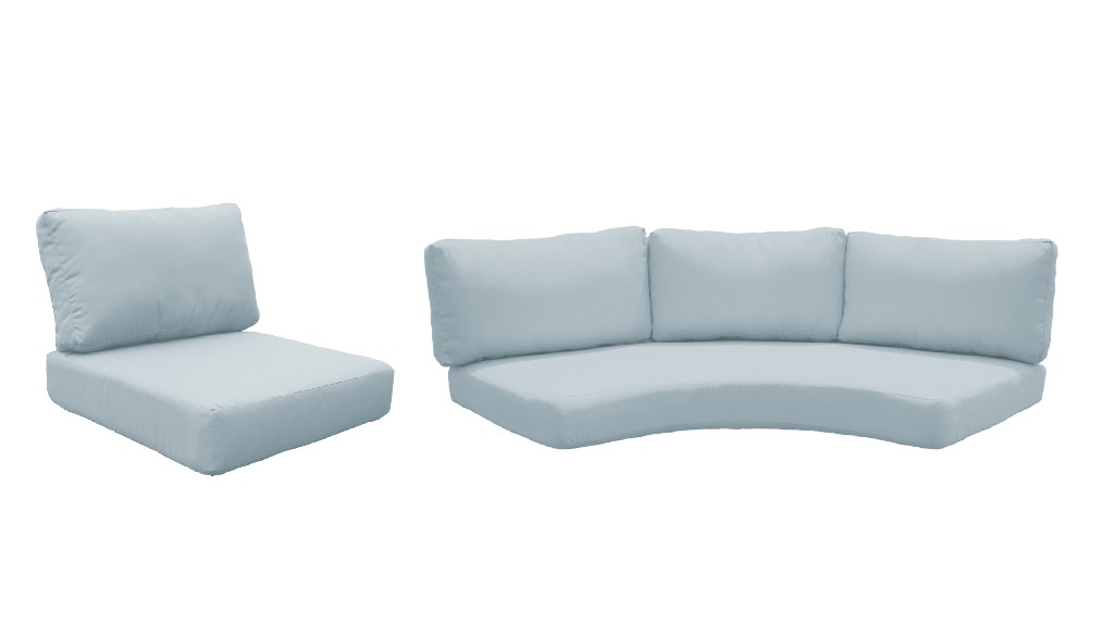 High Back Cushion Set For Barbados-06i In Spa - Tk Classics Cushions-barbados-06i-spa