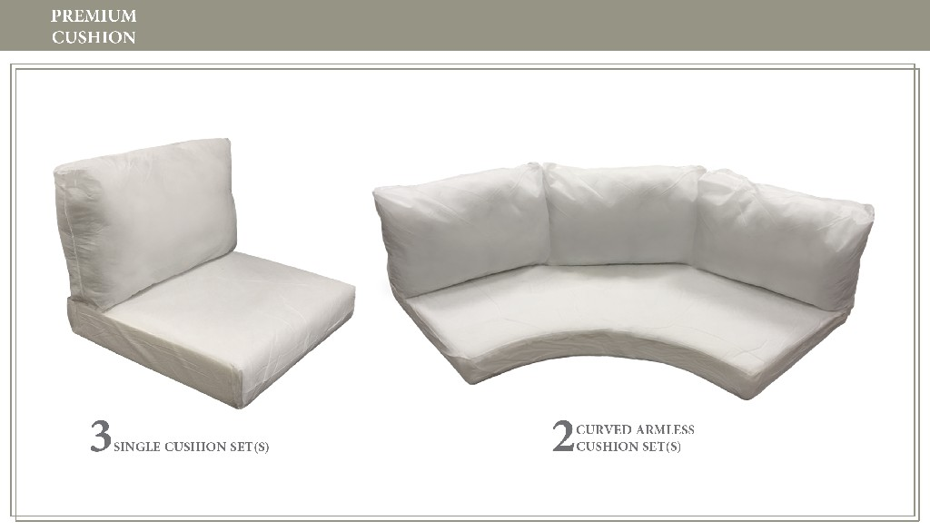 High Back Cushion Set For Barbados-08k - Tk Classics Cushions-barbados-08k