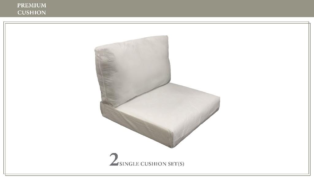 High Back Cushion Set For Coast-02a - Tk Classics Cushions-coast-02a