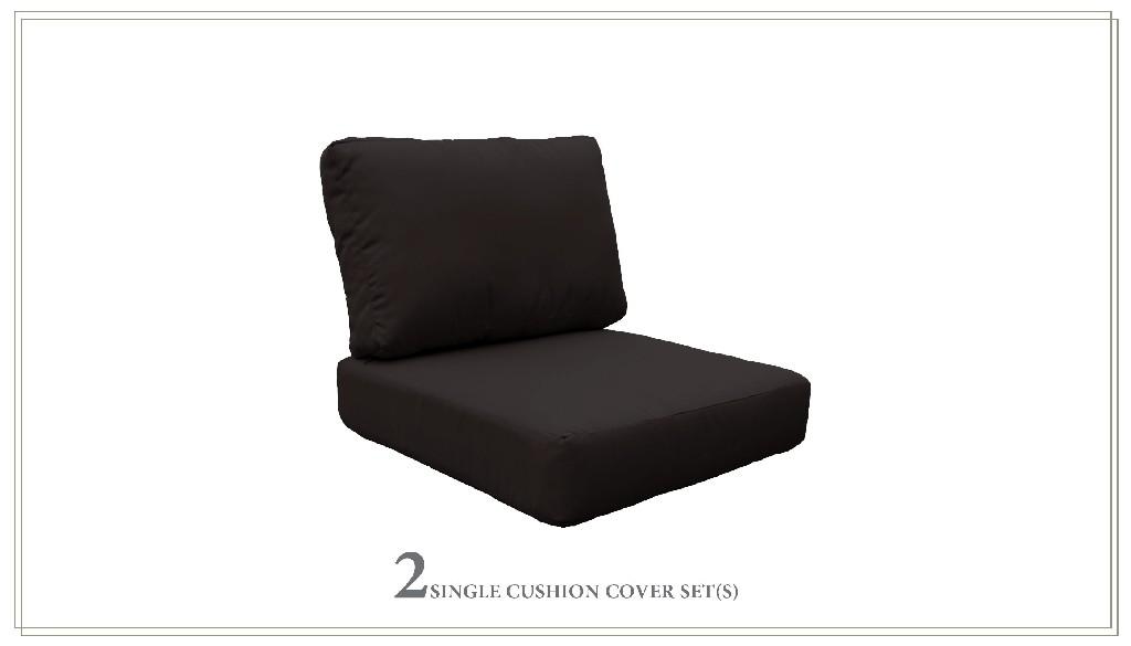 High Back Cushion Set For Coast-03b In Black - Tk Classics Cushions-coast-03b-black