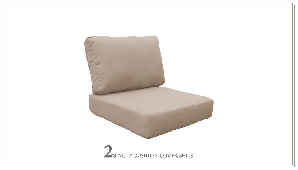High Back Cushion Set For Coast-03b In Wheat - Tk Classics Cushions-coast-03b-wheat
