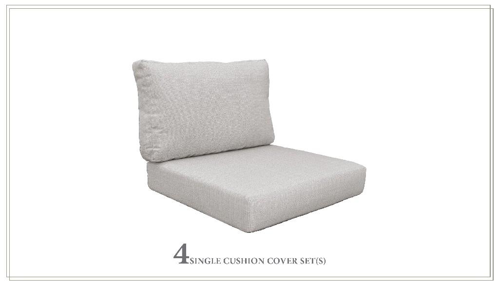 High Back Cushion Set For Coast-06d In Ash - Tk Classics Cushions-coast-06d-ash