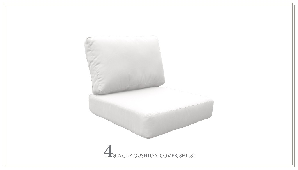 High Back Cushion Set For Coast-07d In Sail White - Tk Classics Cushions-coast-07d-white