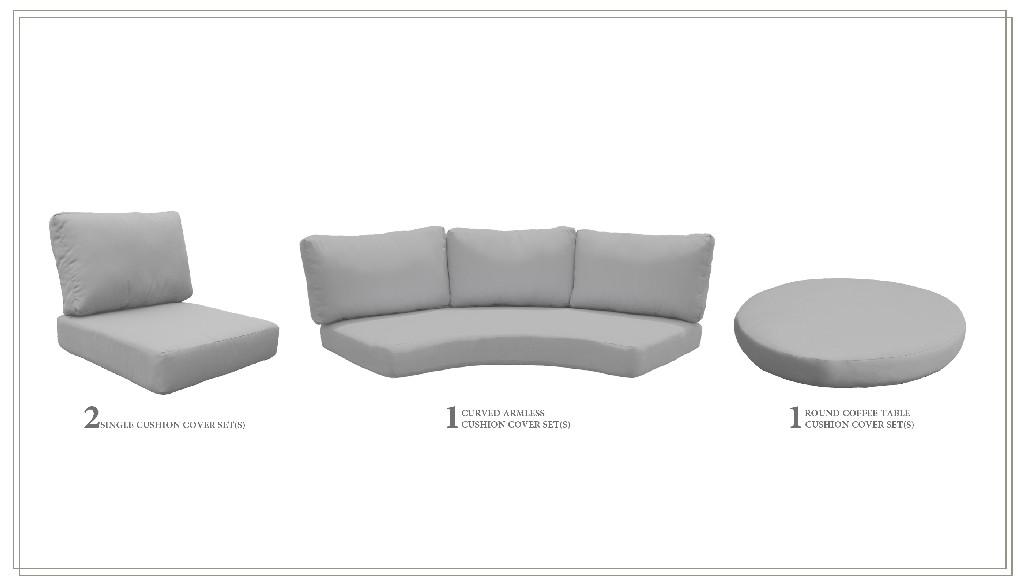 High Back Cushion Set For Fairmont-04a In Grey - Tk Classics Cushions-fairmont-04a-grey