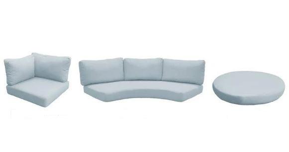 High Back Cushion Set For Fairmont-04a In Spa - Tk Classics Cushions-fairmont-04a-spa