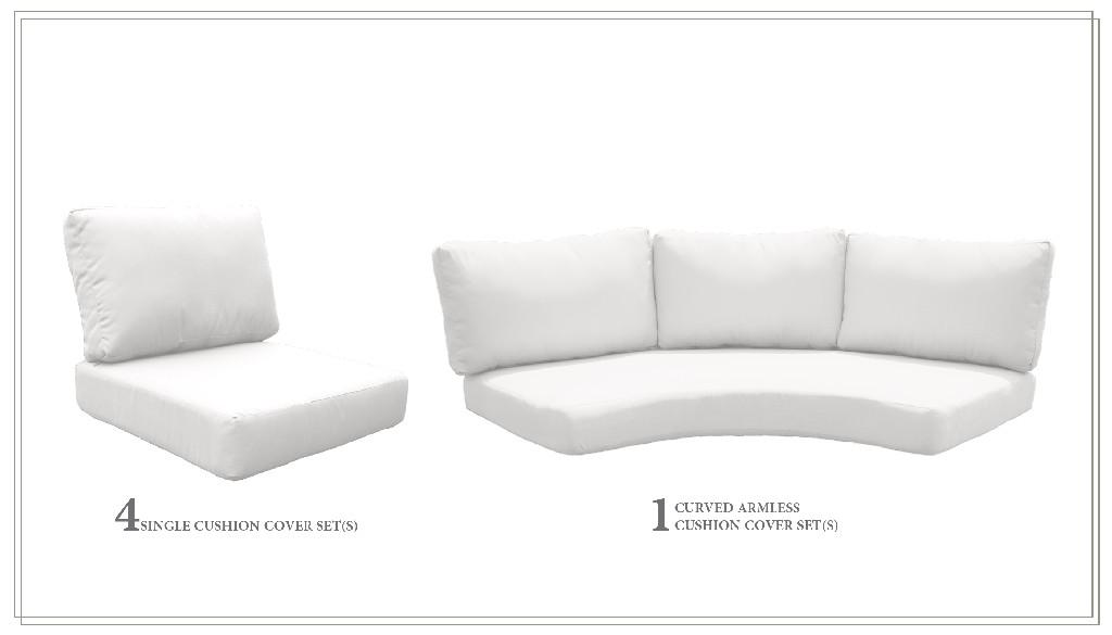 High Back Cushion Set For Fairmont-06e In Sail White - Tk Classics Cushions-fairmont-06e-white
