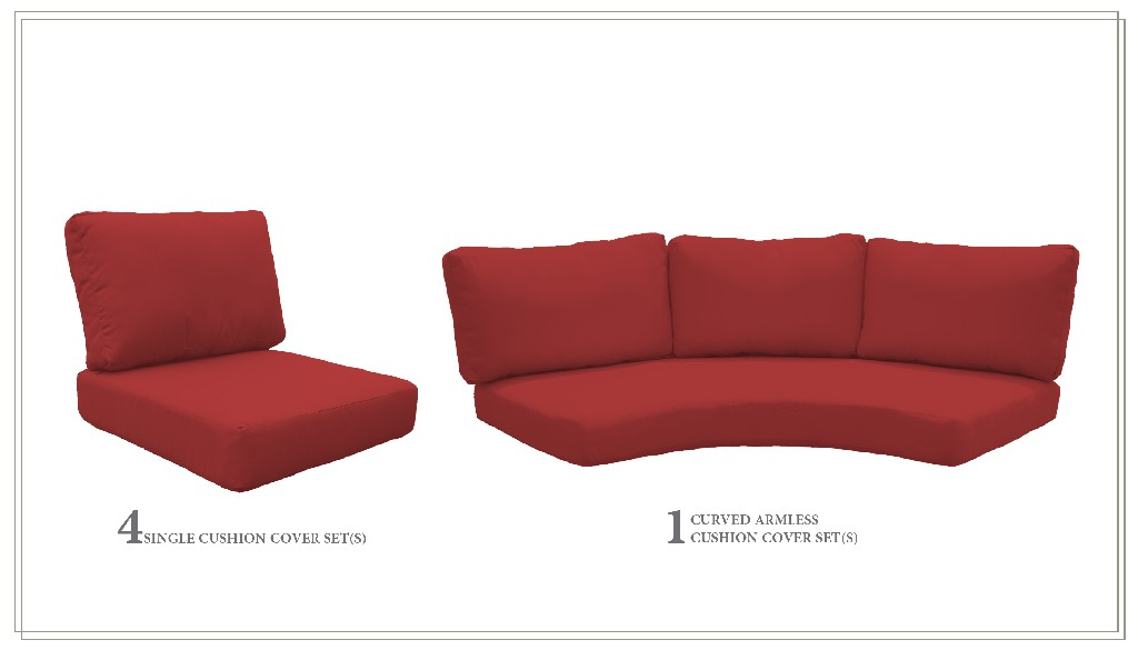 High Back Cushion Set For Fairmont-06j In Terracotta - Tk Classics Cushions-fairmont-06j-terracotta