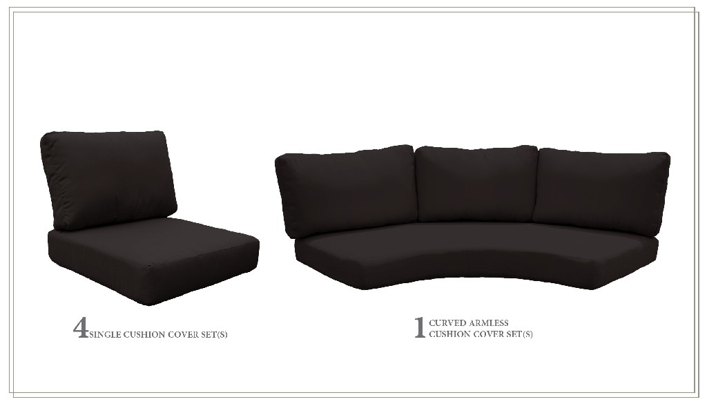 High Back Cushion Set For Fairmont-06k In Black - Tk Classics Cushions-fairmont-06k-black