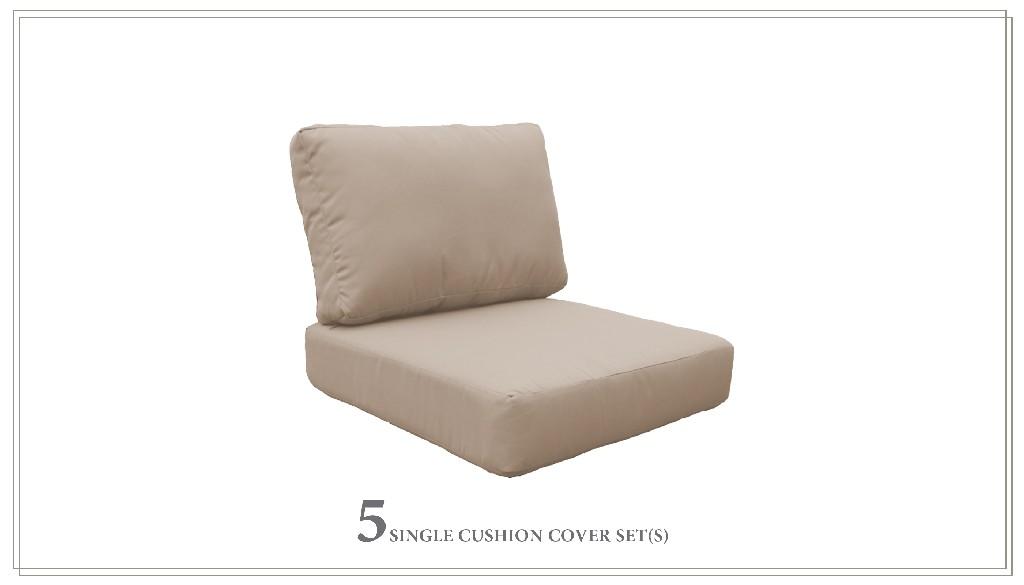 High Back Cushion Set For Fairmont-06p In Wheat - Tk Classics Cushions-fairmont-06p-wheat