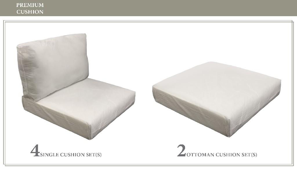 High Back Cushion Set For Fairmont-07a - Tk Classics Cushions-fairmont-07a