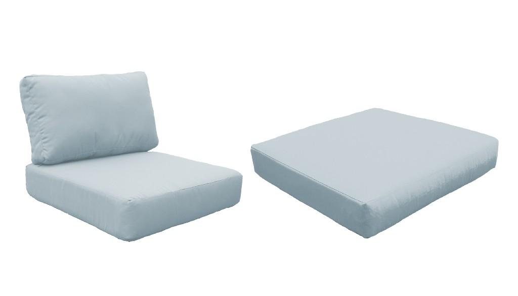 High Back Cushion Set For Fairmont-07a In Spa - Tk Classics Cushions-fairmont-07a-spa