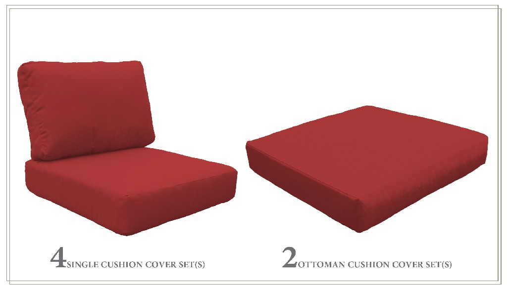 High Back Cushion Set For Fairmont-07a In Terracotta - Tk Classics Cushions-fairmont-07a-terracotta