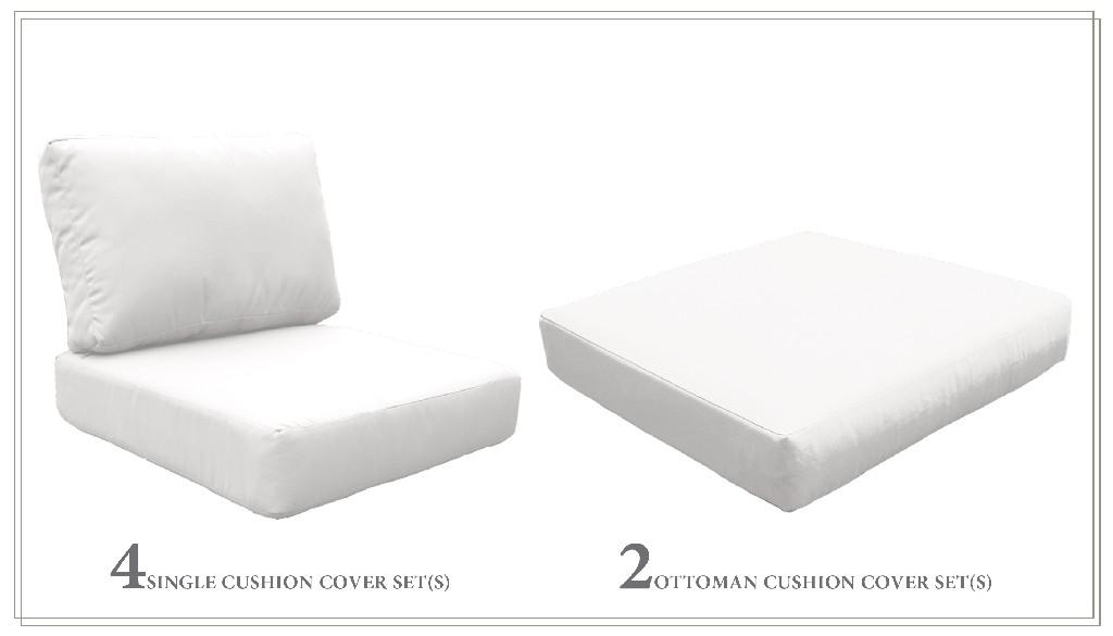 High Back Cushion Set For Fairmont-07a In Sail White - Tk Classics Cushions-fairmont-07a-white