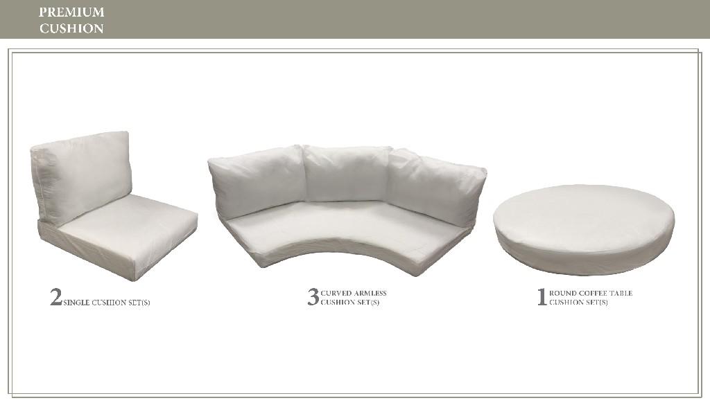 High Back Cushion Set For Fairmont-08b - Tk Classics Cushions-fairmont-08b