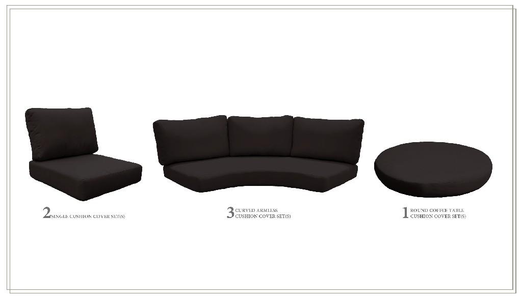 High Back Cushion Set For Fairmont-08b In Black - Tk Classics Cushions-fairmont-08b-black