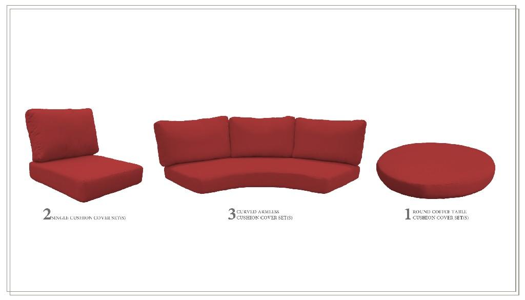 High Back Cushion Set For Fairmont-08b In Terracotta - Tk Classics Cushions-fairmont-08b-terracotta
