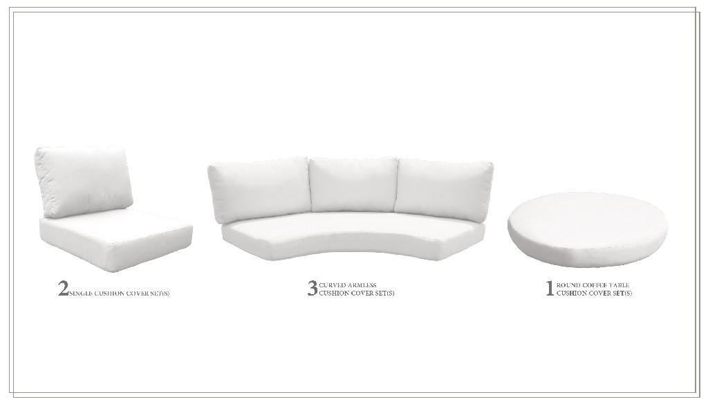 High Back Cushion Set For Fairmont-08b In Sail White - Tk Classics Cushions-fairmont-08b-white
